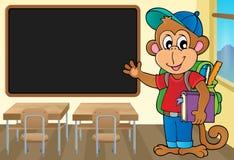 School monkey theme image 2 Stock Photos