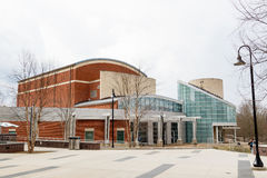 School of Music Complex and Watson Hall at the University of Nor. Th Carolina School of the Arts on February 25,  2017 in Winston-Salem, North Carolina Stock Image