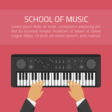 School of music illustration Royalty Free Stock Images