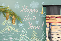 School New Year Royalty Free Stock Photo