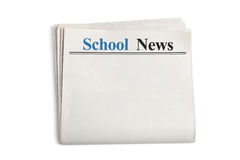 School News royalty free stock photography