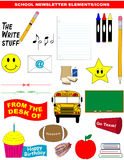School Newsletter Elements/Icons Vector Royalty Free Stock Photos