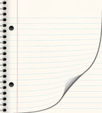 School or note book paper Royalty Free Stock Images