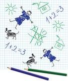 School Notebook Stock Photo