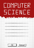 School notebook cover in grunge style Royalty Free Stock Images