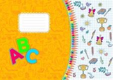 School notebook horizontal a4 format. School notebook horizontal.format A4 Stock Images