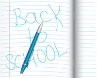School notebook with pen Stock Photography