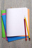 School notebooks Royalty Free Stock Photo