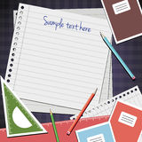 School notes background Royalty Free Stock Image
