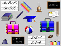 School objects. A series of  objects for scool Royalty Free Stock Photos