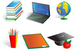 School objects Stock Images