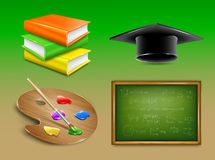 School objects collection. Vector Royalty Free Stock Photos