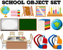 School objects and tools. Illustration Royalty Free Stock Photography