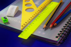 School office accessories Royalty Free Stock Photo