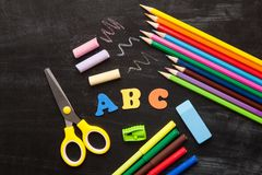 School and office accessories Royalty Free Stock Photography