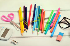 School office accessories Stock Images