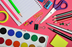 School office accessories Royalty Free Stock Image