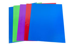School Or Office Colorful Folders Isolated Royalty Free Stock Photos