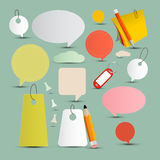 School - Office Objects and Labels Set Stock Photo