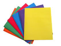 School & Office:  Stack of Multi Colored Folders Royalty Free Stock Photo