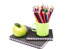 School and office stationary. Back to school concept Stock Photos