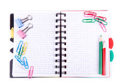 School and office stationary. Back to school concept Royalty Free Stock Images