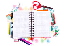School and office stationary. Back to school concept Stock Photography