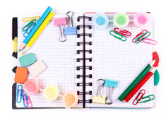 School and office stationary. Back to school concept Royalty Free Stock Photo