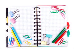 School and office stationary. Back to school concept Royalty Free Stock Photos