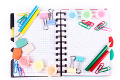School and office stationary. Back to school concept Royalty Free Stock Photography