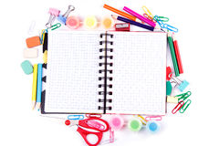 School and office stationary. Back to school conce Royalty Free Stock Photos