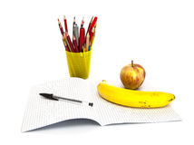School and office stationary isolated on white Stock Images