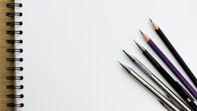 School and office stationary Stock Photos