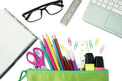 School and office stationery Stock Photography