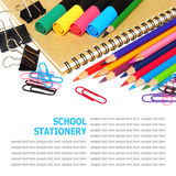 School and office stationery isolated on white Stock Photo