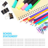 School and office stationery isolated on white Stock Image