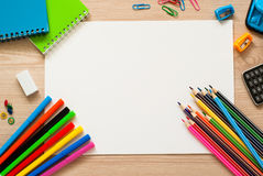 School and office stationery. Stock Photo