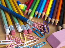 School office supplies Stock Photography