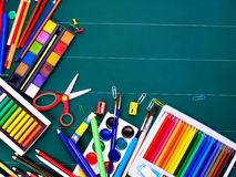 School office supplies. Royalty Free Stock Photo
