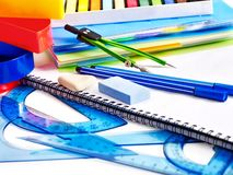 School  office supplies . Royalty Free Stock Image