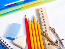 School  office supplies . Royalty Free Stock Photo
