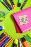School office supplies. Back to school. royalty free stock photography