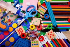 School and office supplies, back to school Stock Photos