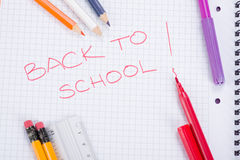 School and office supplies, back to school Royalty Free Stock Images