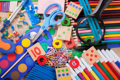 School and office supplies, back to school Stock Images