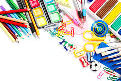 School and office supplies. Back to school. Stock Image