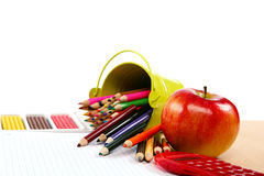 School and office supplies. Back to school. Royalty Free Stock Image