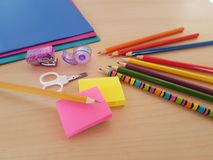 School and Office Supplies, Back to School, royalty free stock image