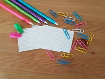 School and Office Supplies, Back to School, royalty free stock images