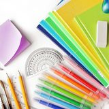 School office supplies Stock Image